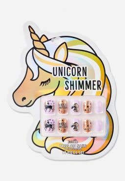 Just Shine Unicorn Shimmer Scented Press On Nails
