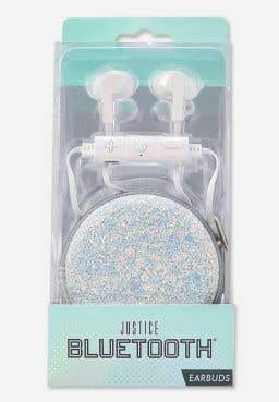 Silver Holo Bluetooth Earbuds