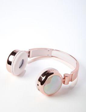 Rose Gold Crystal Sleek Sounds Headphones