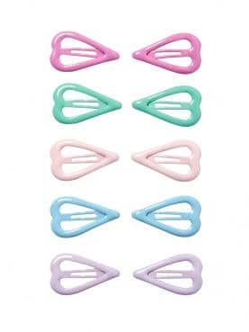 10 Pack Heart Shaped Snaps