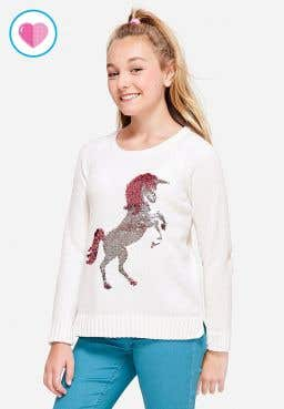 flip sequin snuggly soft chenille sweater