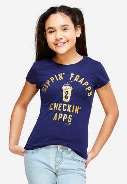 Sippin Frapps Checkin Apps Graphic Tee