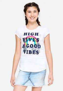 High Five & Good Vibes Graphic Tee