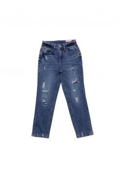 Destructed Mini Mom Jeans