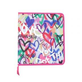Love Graffiti 2 Inch Zipper Binder