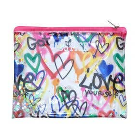 Love Graffiti Confetti Pencil Pouch