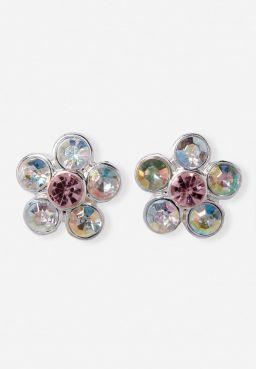 Crystal Flower Stud Earrings