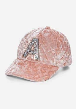 Quilted Initial Baseball Cap