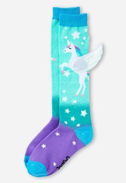 Flying Unicorn Knee High Socks