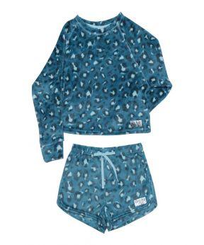 2 Piece Tie Dye Shorts Sleepwear