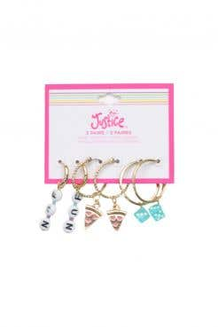 Kitsch Pack Hoop With Interch Charms Earrings