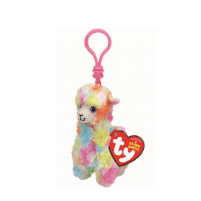 Beanie Boos Babies Multicolor Llama Keychain