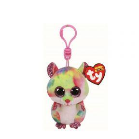 Beanie Boos Multicolor Hamster Clip Keychain