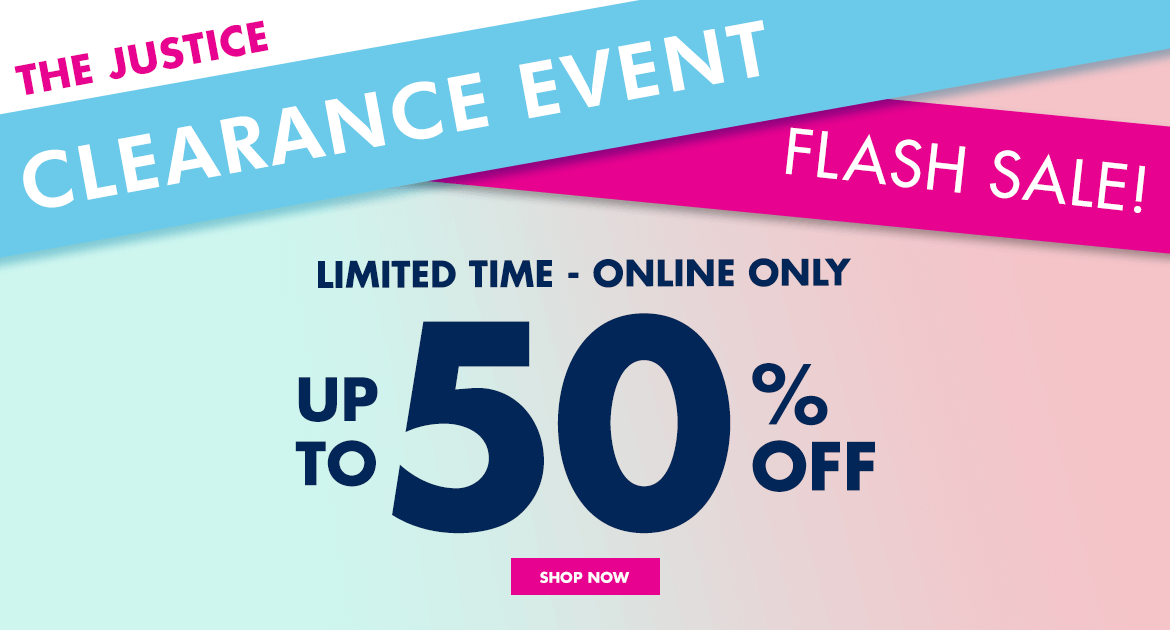 justice, sale, clearance event, justice clearance