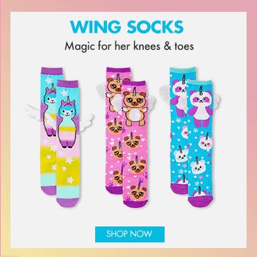 justice, accessories, legwear, socks, wing socks