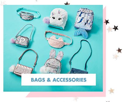 justice, bags, backpacks, mermaid, unicorn, owl, justice backpack